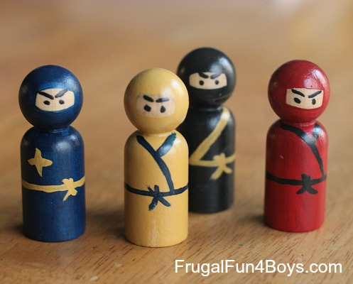 Wooden Peg Ninjas