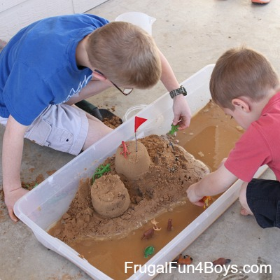 Sand Play on a Budget