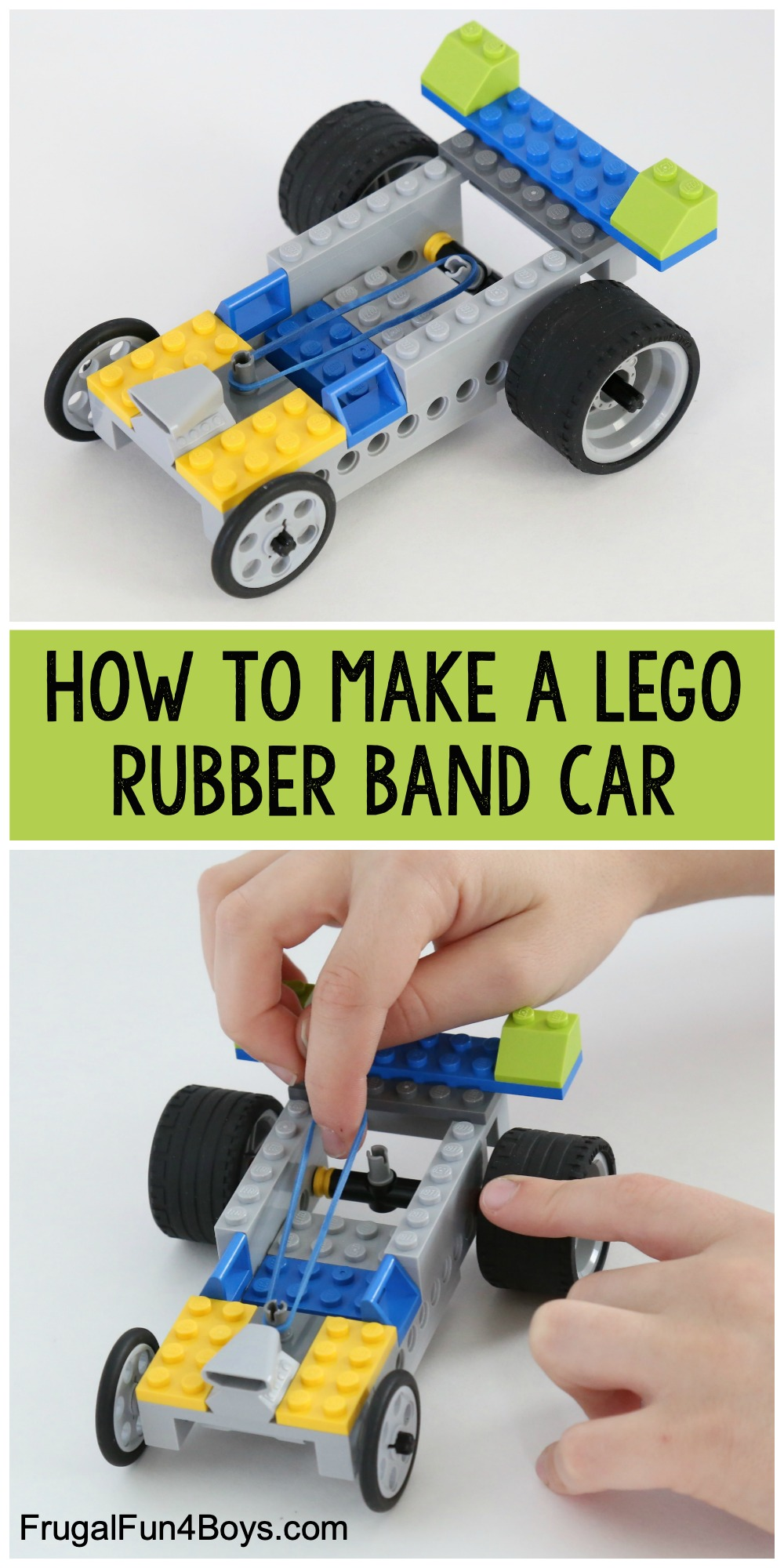 Rubber Band Powered Lego Car Frugal Fun For Boys And Girls