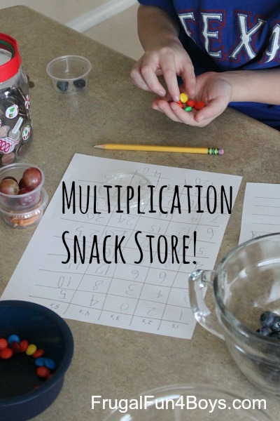 Multiplication Snack Store Math Activity