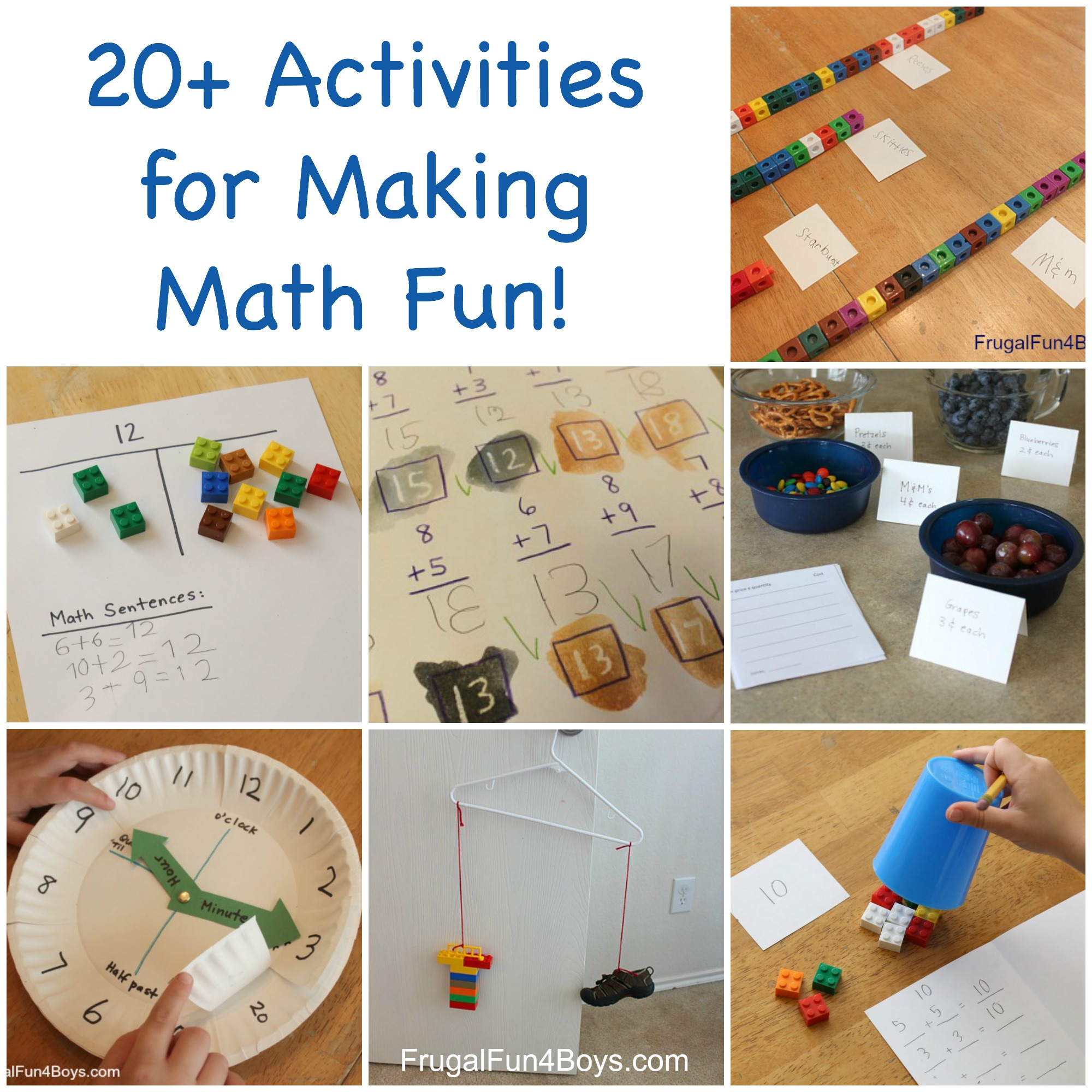 20+ Hands On Activities for Making Math Fun!