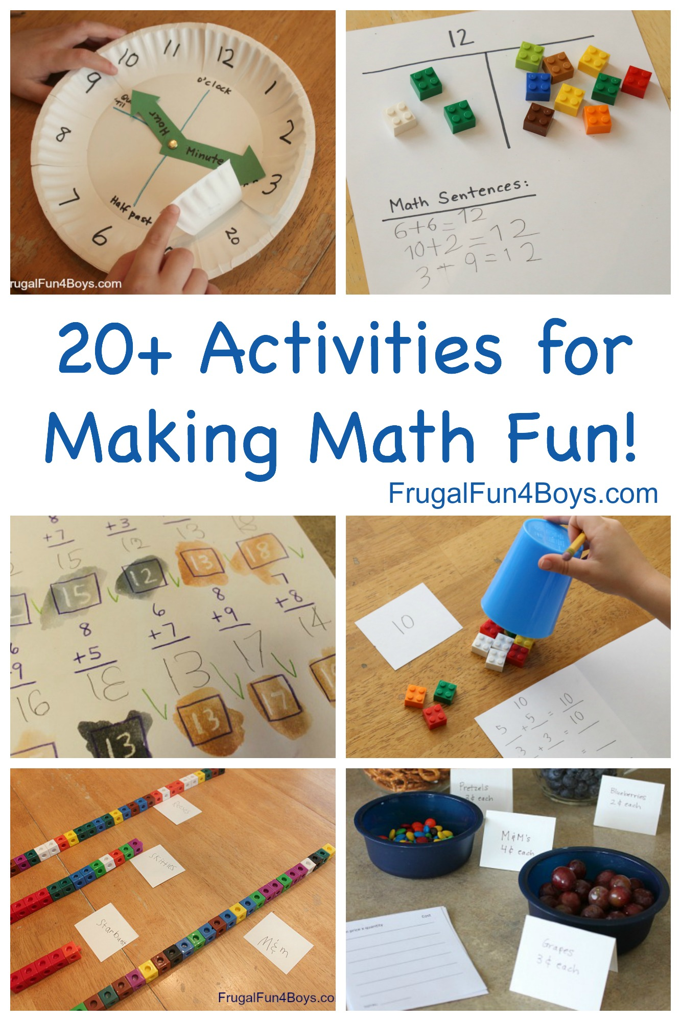 20+ Hands On Activities for Making Math Fun! Grades 1-4