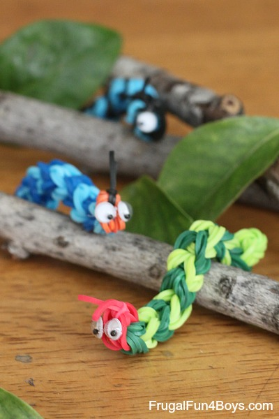 Rainbow Loom Caterpillars