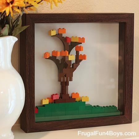 Lego Fall Leaf Shadowbox