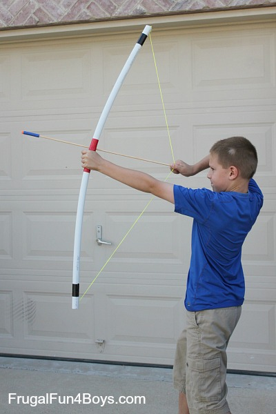 PVC Pipe Bow and Arrows - Frugal Fun
