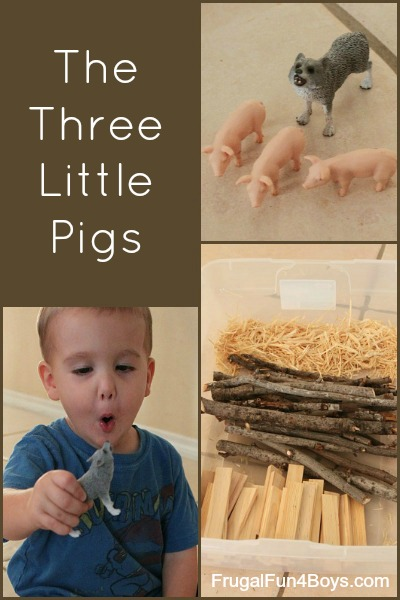 The Three Little Pigs Pretend Play