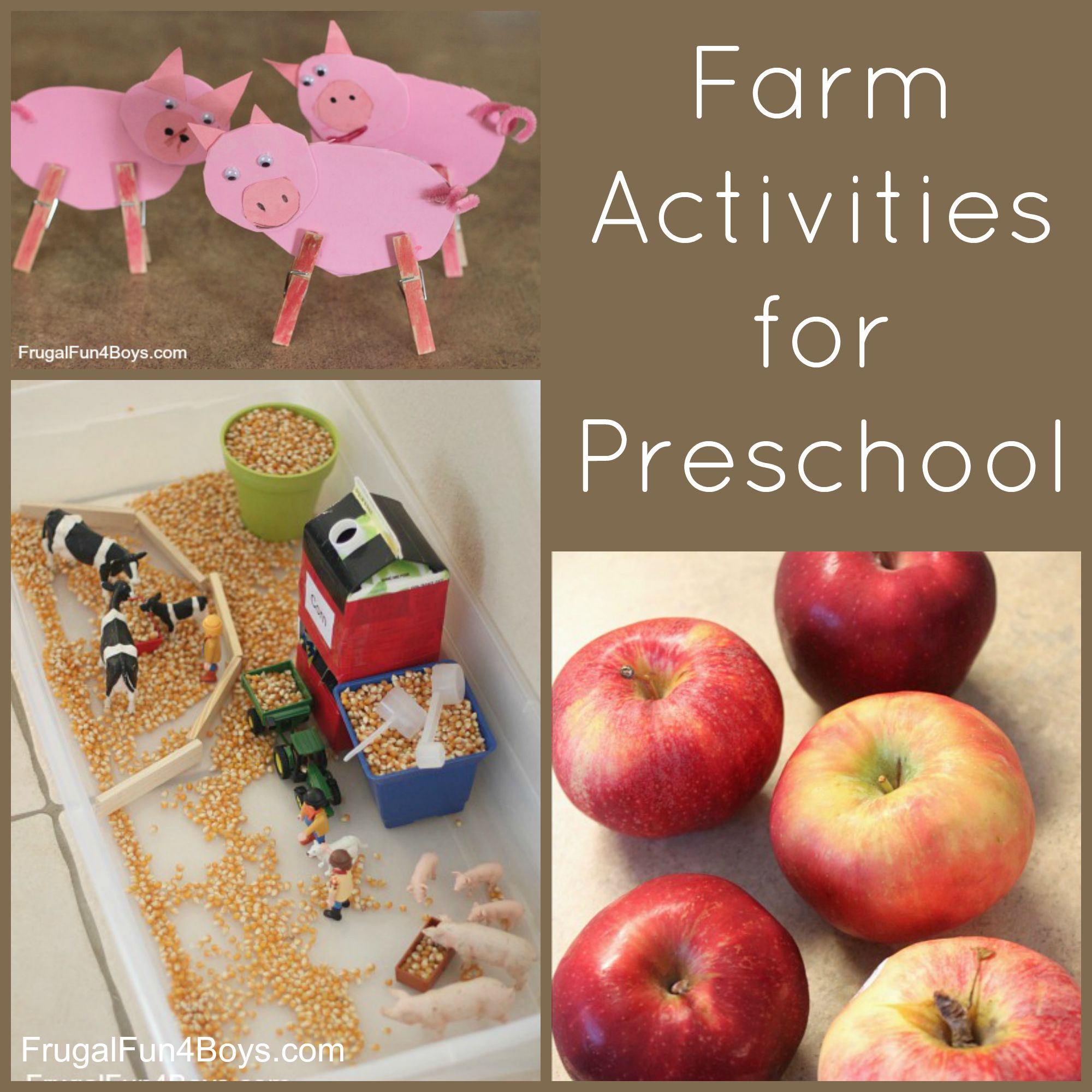 Farm Activities for Preschoolers - Crafts, Play, and Books
