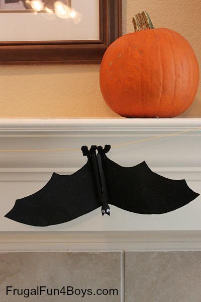 Clothespin Bat Craft
