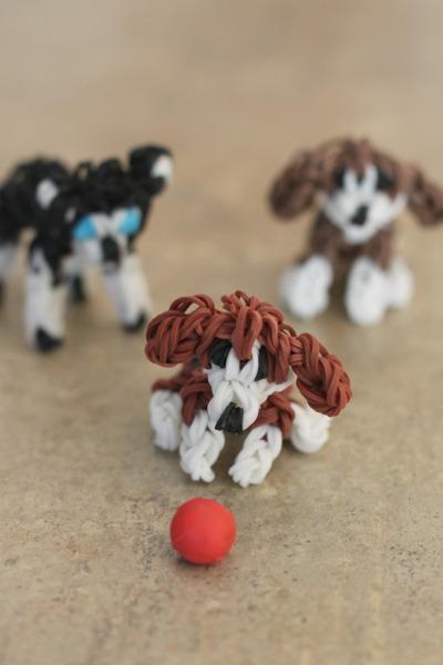 Rainbow Loom Dogs - Beagle and Husky