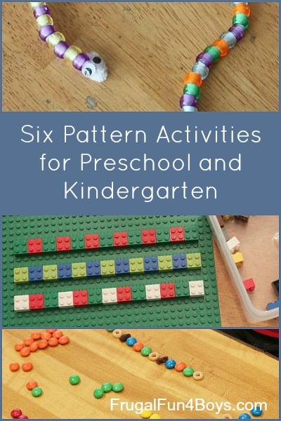 Activities for Patterns - Preschool and Kindergarten
