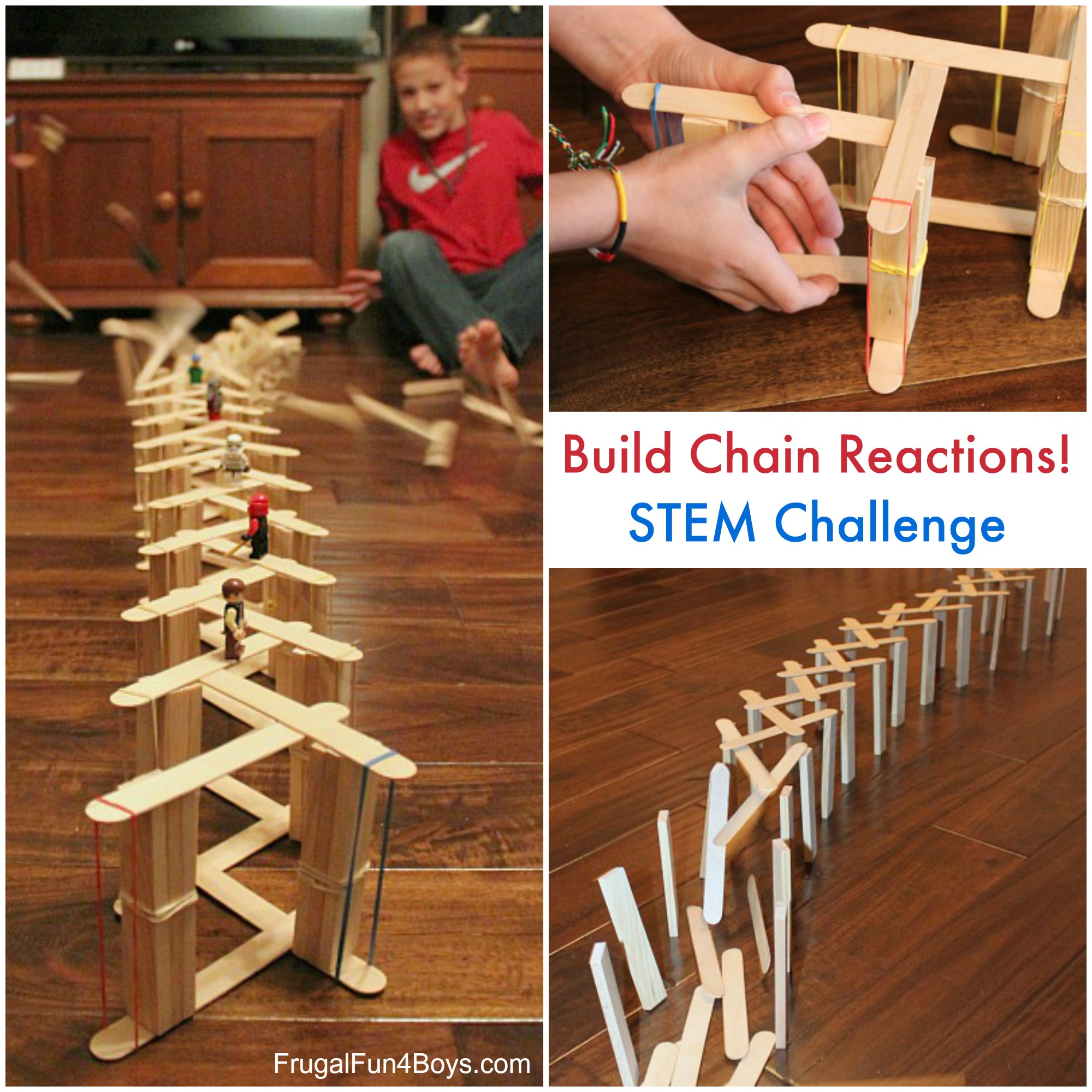 STEM Challenge:  Build Chain Reactions with Craft Sticks
