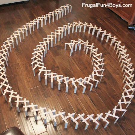 How to Build a Chain Reaction with Craft/Popsicle Sticks