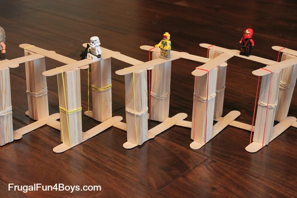 Build a chain reaction with popsicle/craft sticks