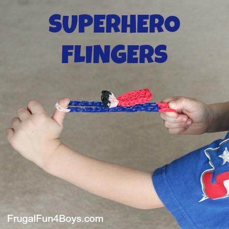 Rainbow Loom Superhero Flingers