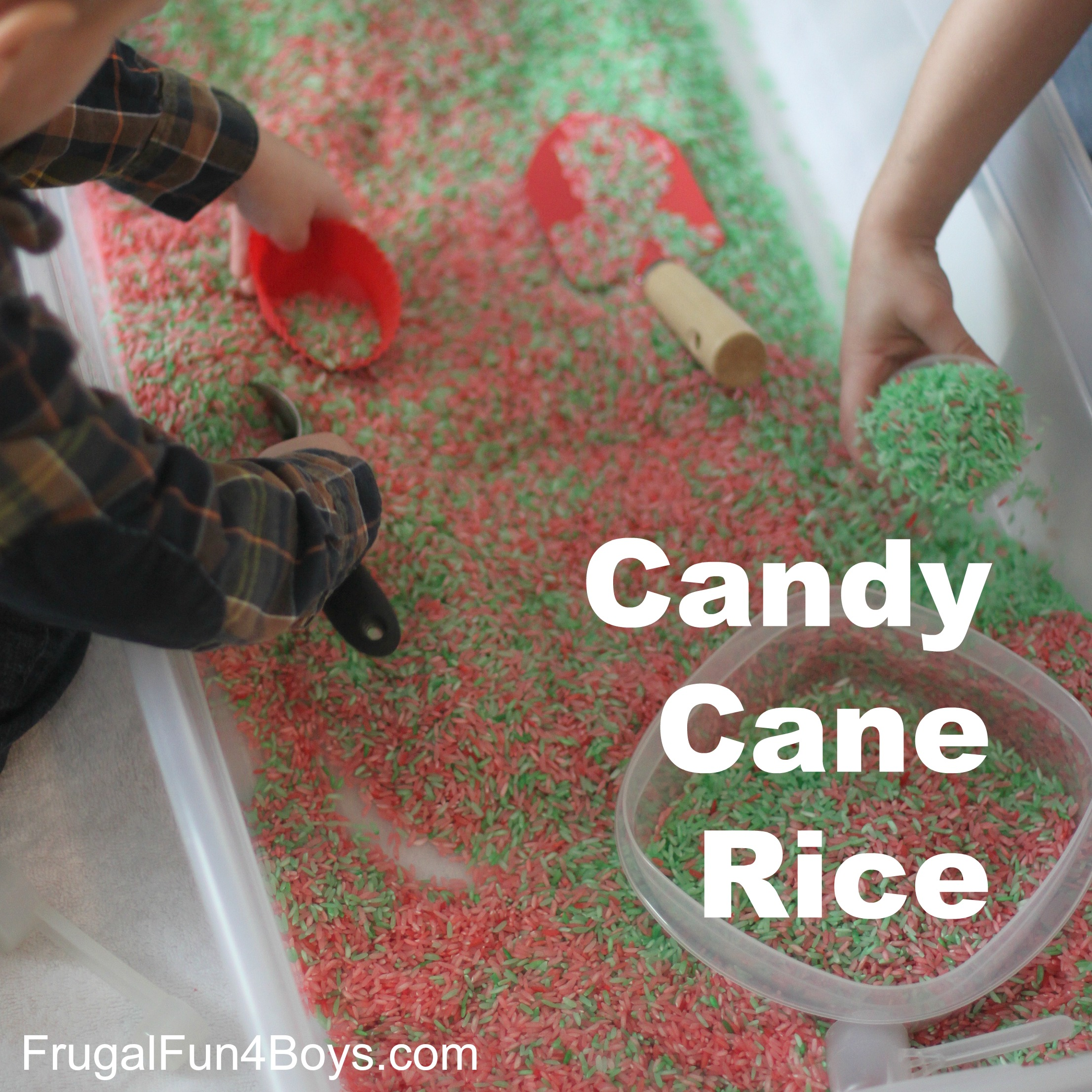 Candy Cane Scented Rice - for Play