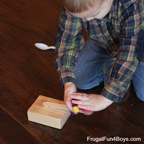 Simple Clothespin Catapult