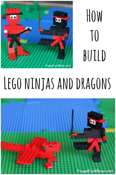 How to Build LEGO Ninjas and Dragons