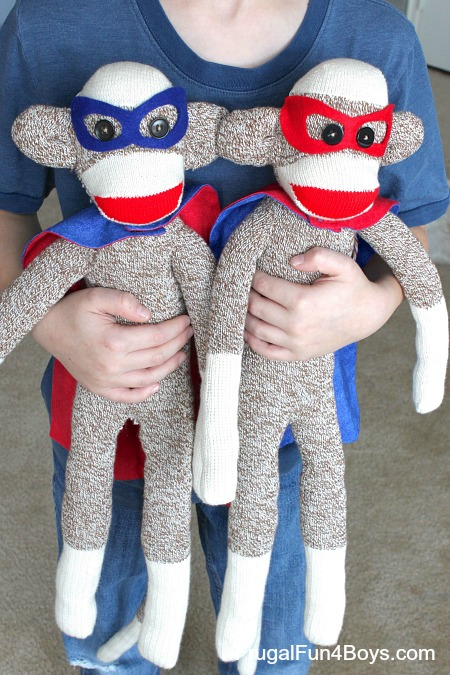 How to Make Superhero Sock Monkeys