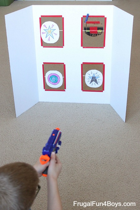 Spinning Targets for Nerf