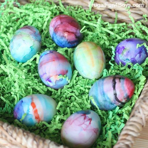 Color Swirl Tie Dye Easter Eggs