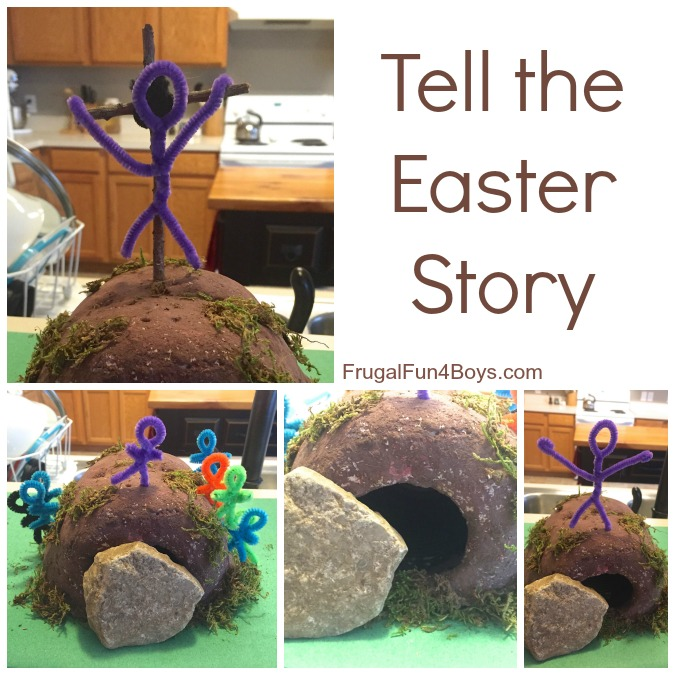 Tell the Easter Story with a Salt Dough Mountain