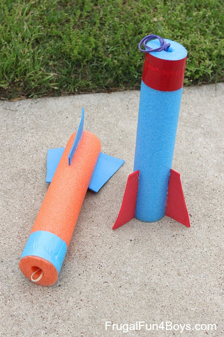 How to make a pool noodle rocket flinger - DIY toy!