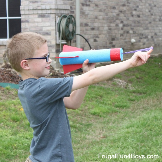 How to make a pool noodle rocket flinger!