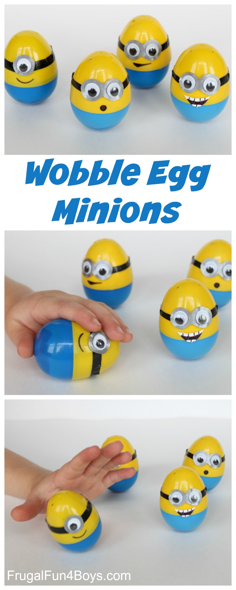 Make Minion Eggs - Push them down and they pop back up!