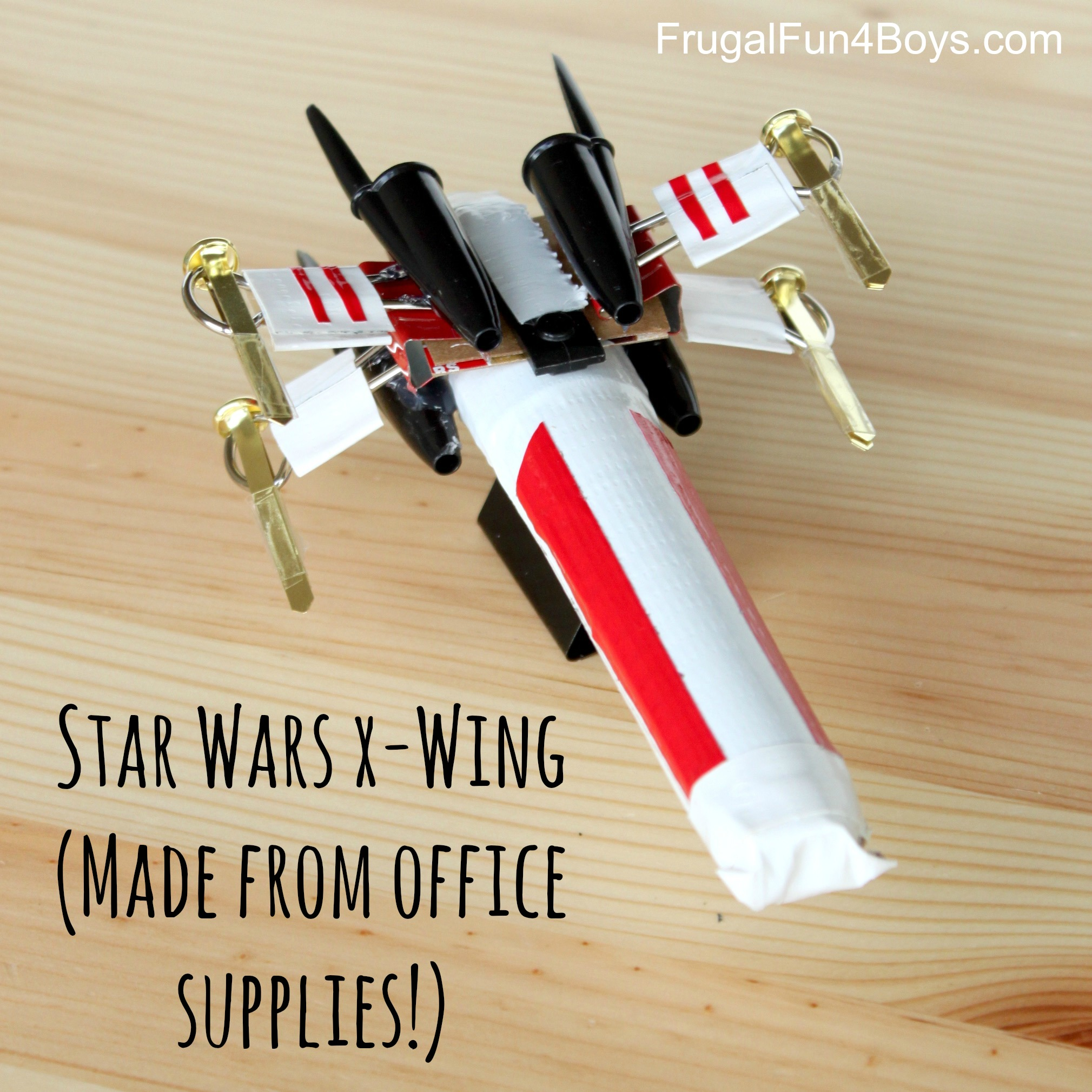 Star Wars X-Wing (Made out of office supplies!)