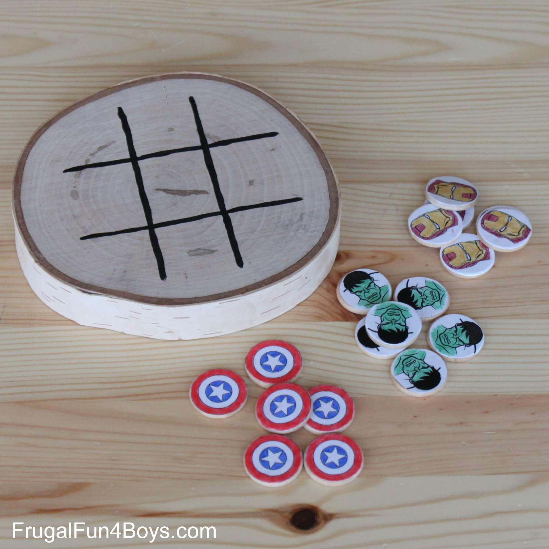 DIY Avengers Tic Tac Toe Game