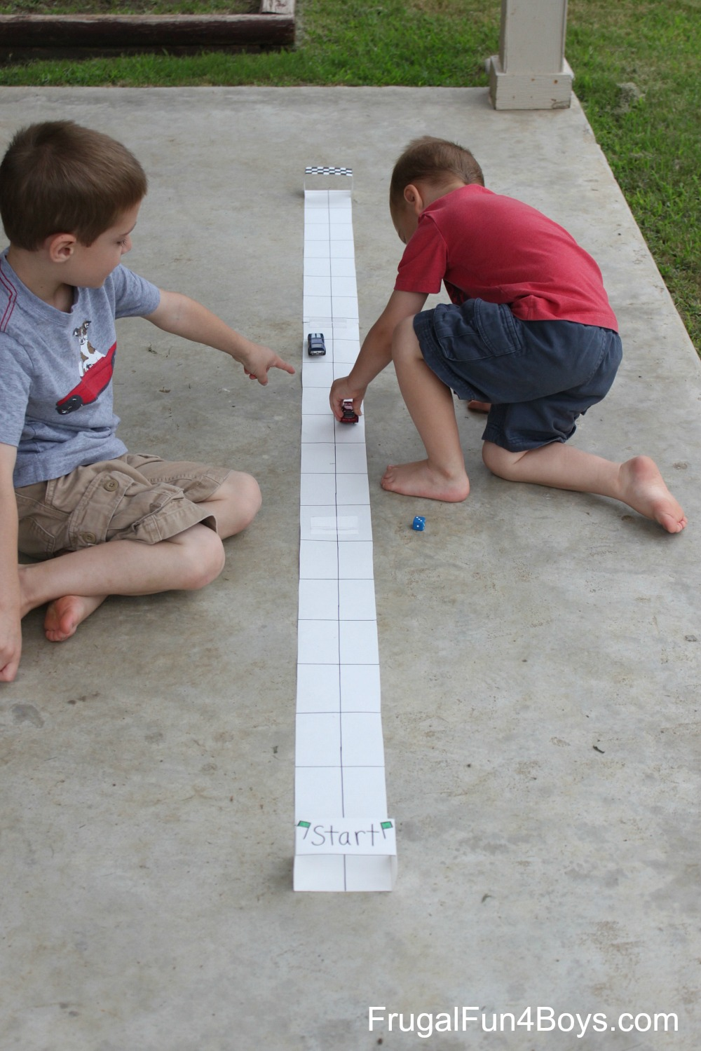 Car Race Counting Game for Preschoolers