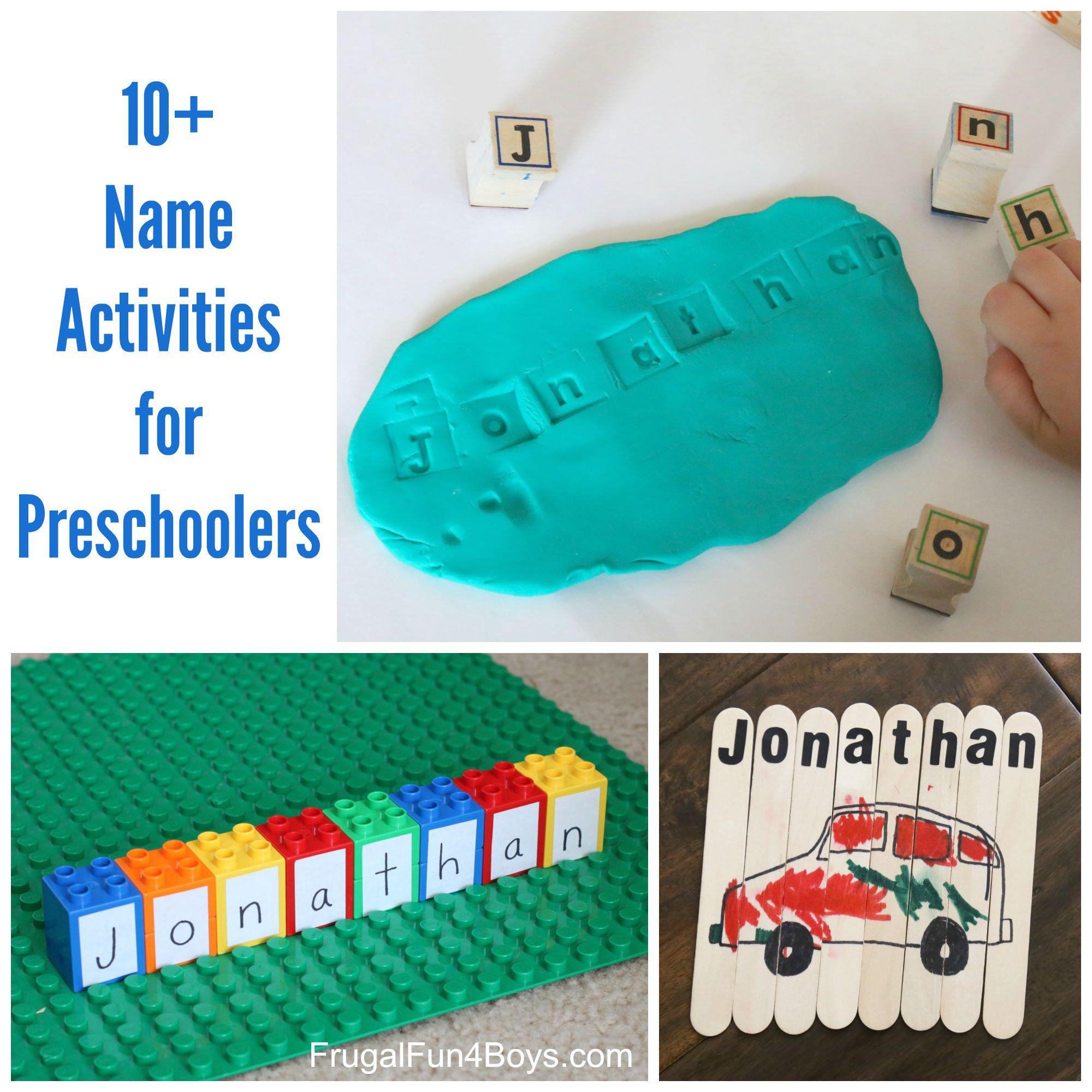 10+ Simple Name Activities for Preschoolers