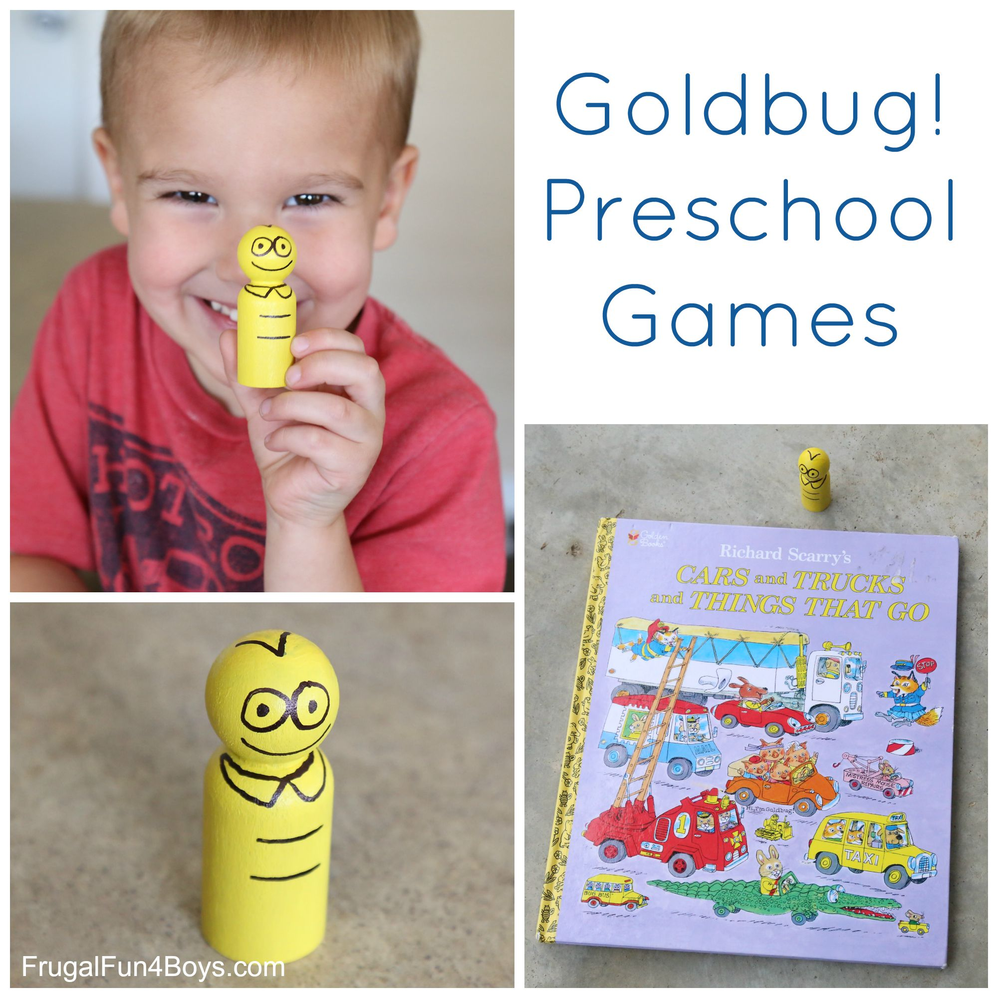 Goldbug Preschool Games to go with Richard Scarry's Cars and Trucks and Things that Go