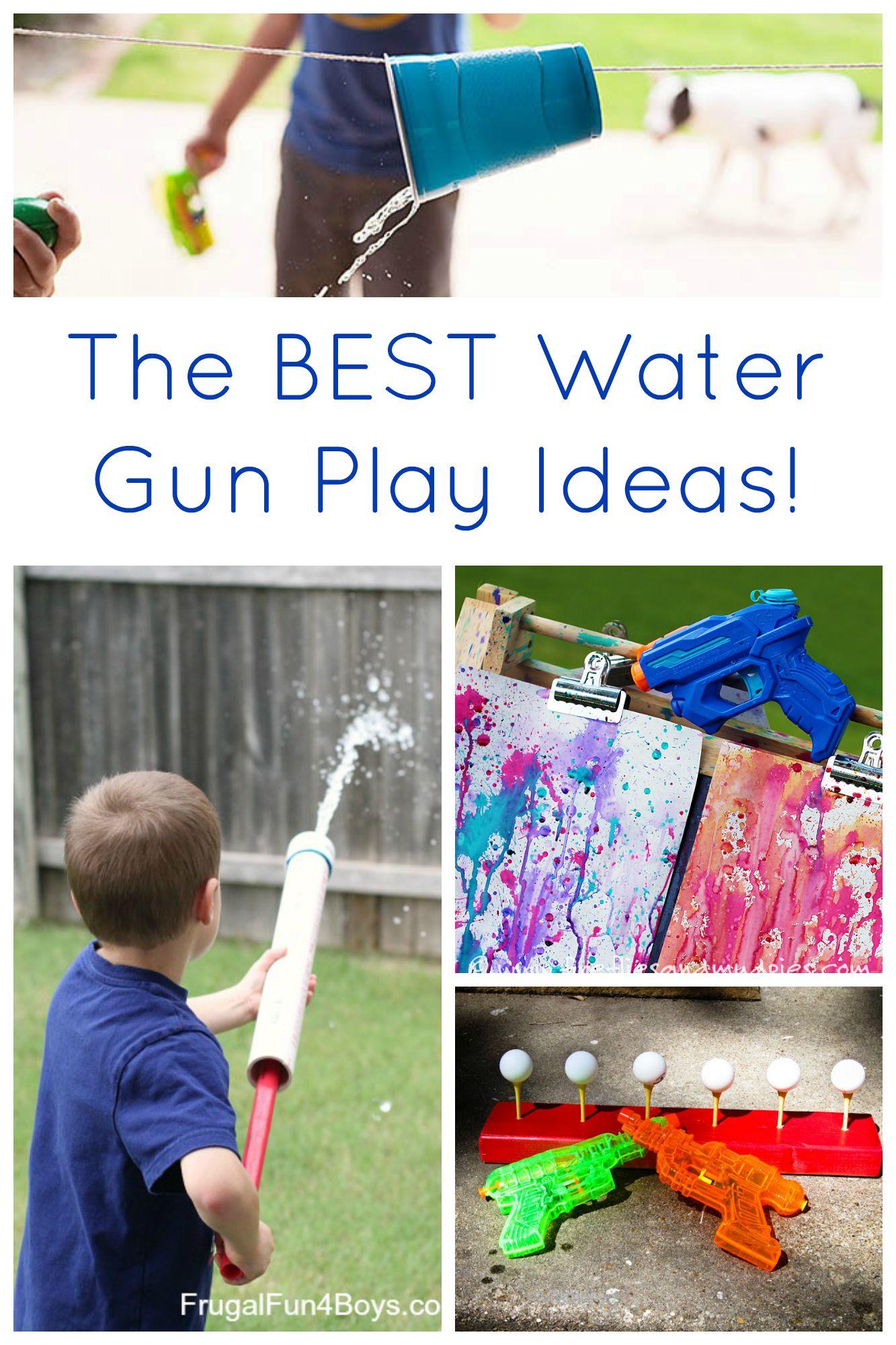 The BEST Water Gun Play Ideas for Kids!