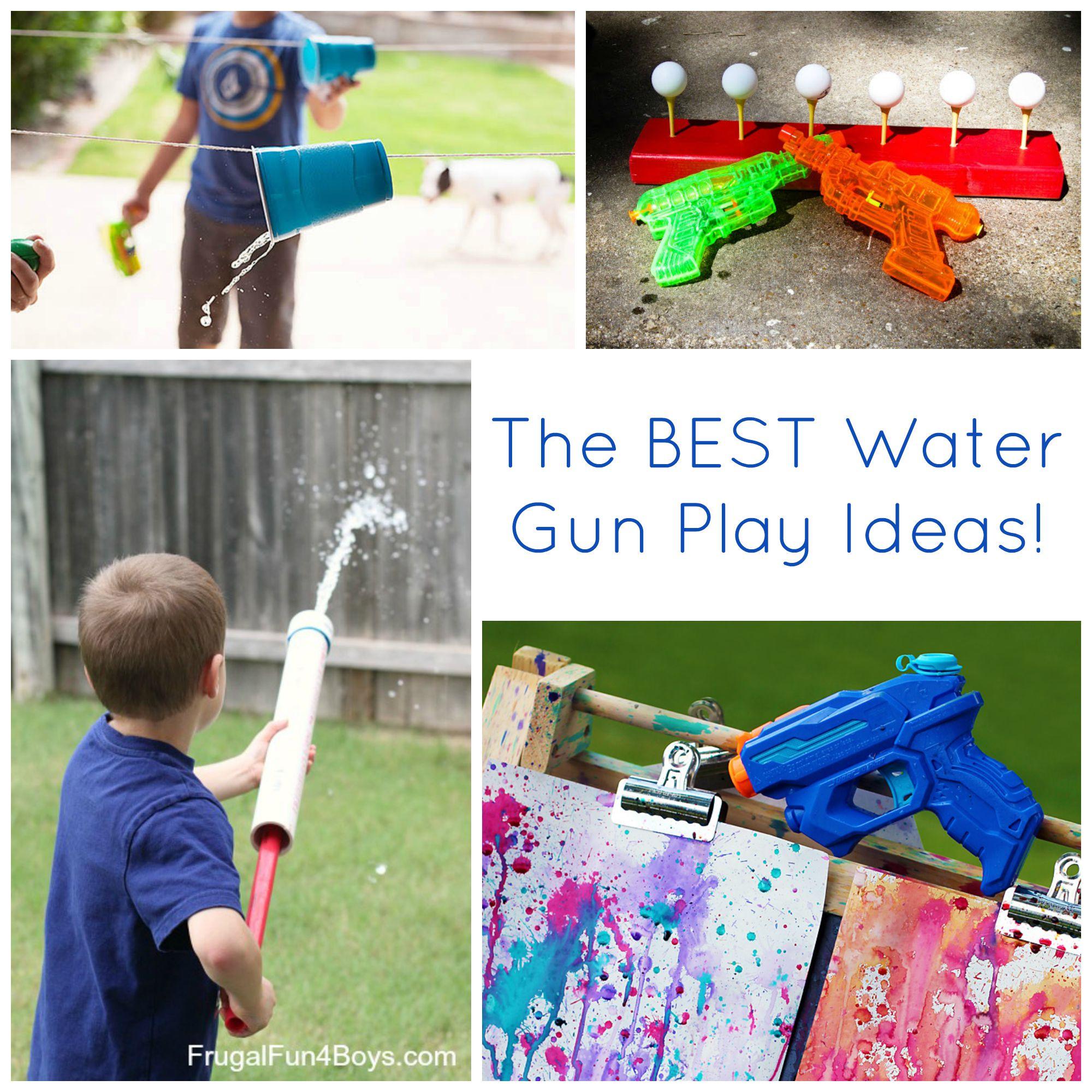The BEST Water Gun Play Ideas!