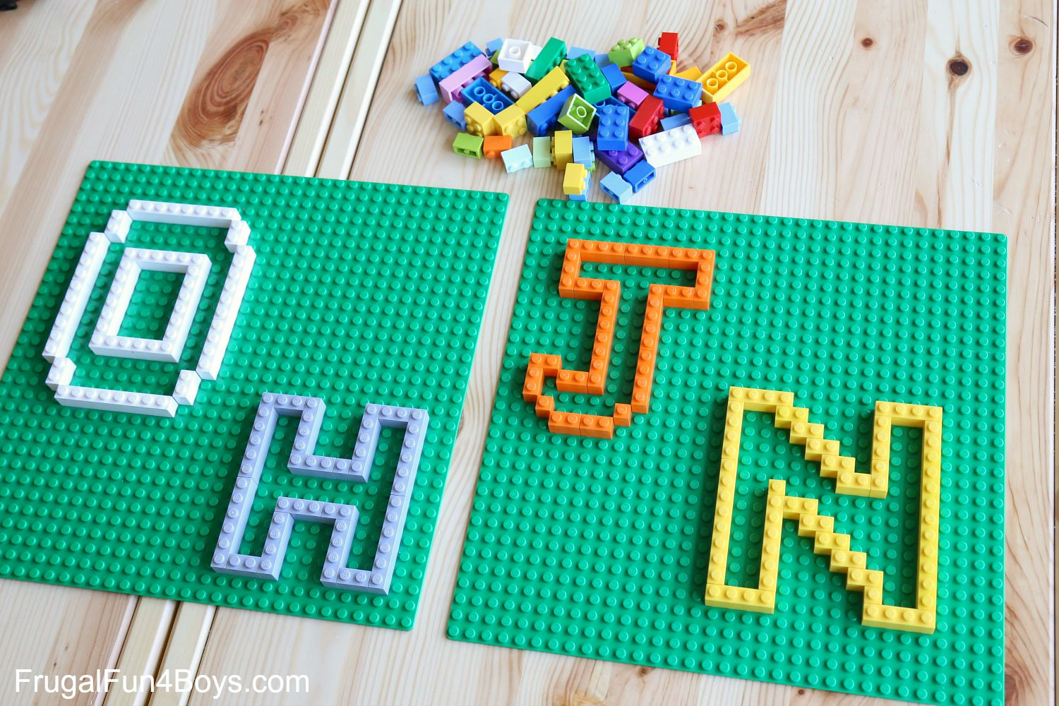 LEGO Letter Puzzles