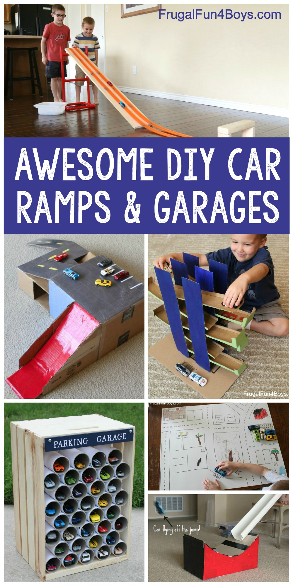 Awesome Diy Car Ramps And Garages For Toy Cars Frugal