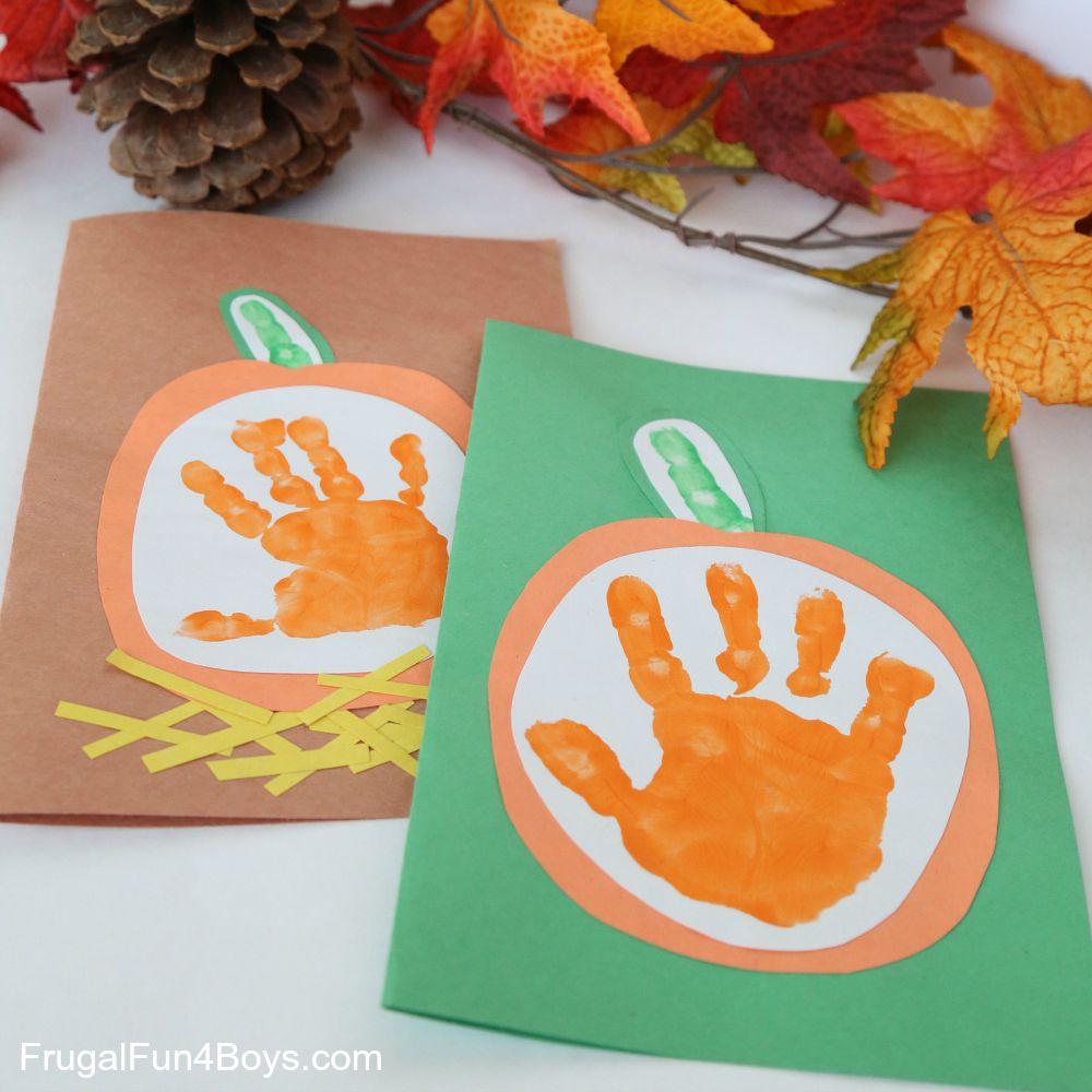 Your Little Pumpkin Handprint Card For Kids To Make