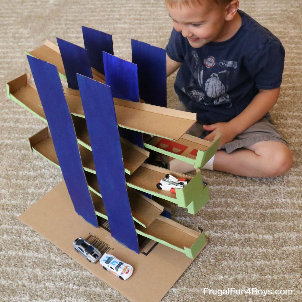 Ramps Race DIY Cardboard Toy for Hot Wheels Cars