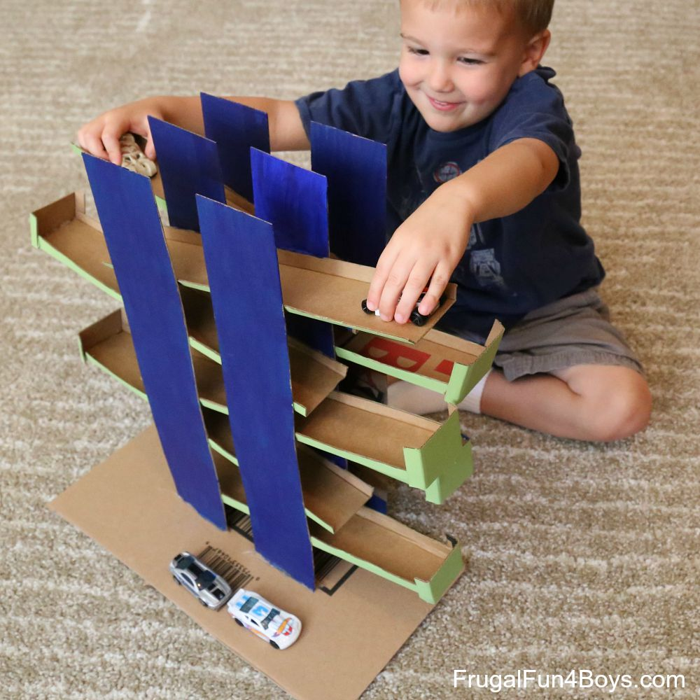 Ramps Race Game for Hot Wheels Cars - DIY Cardboard Toy