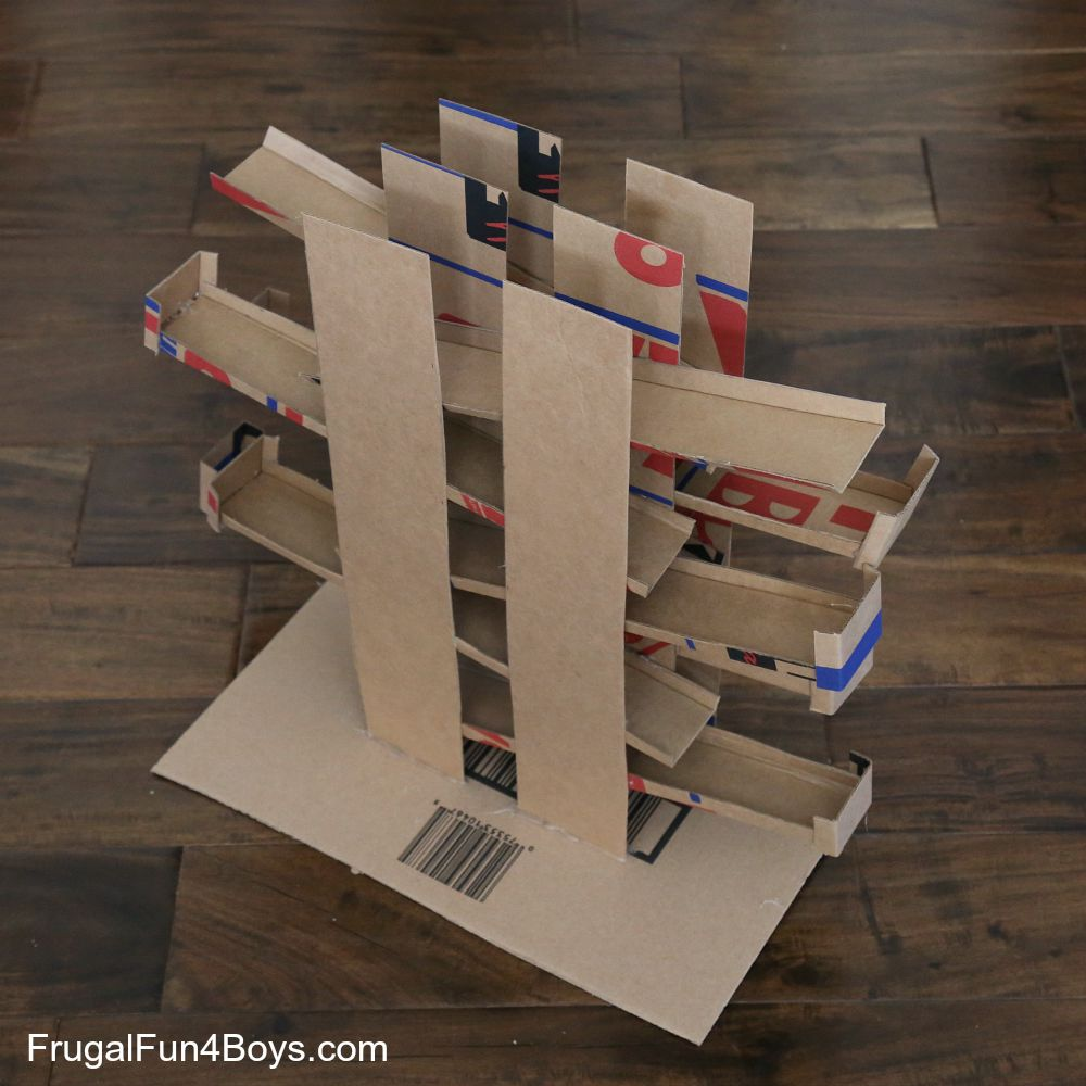 Ramps Race Cardboard Box Toy