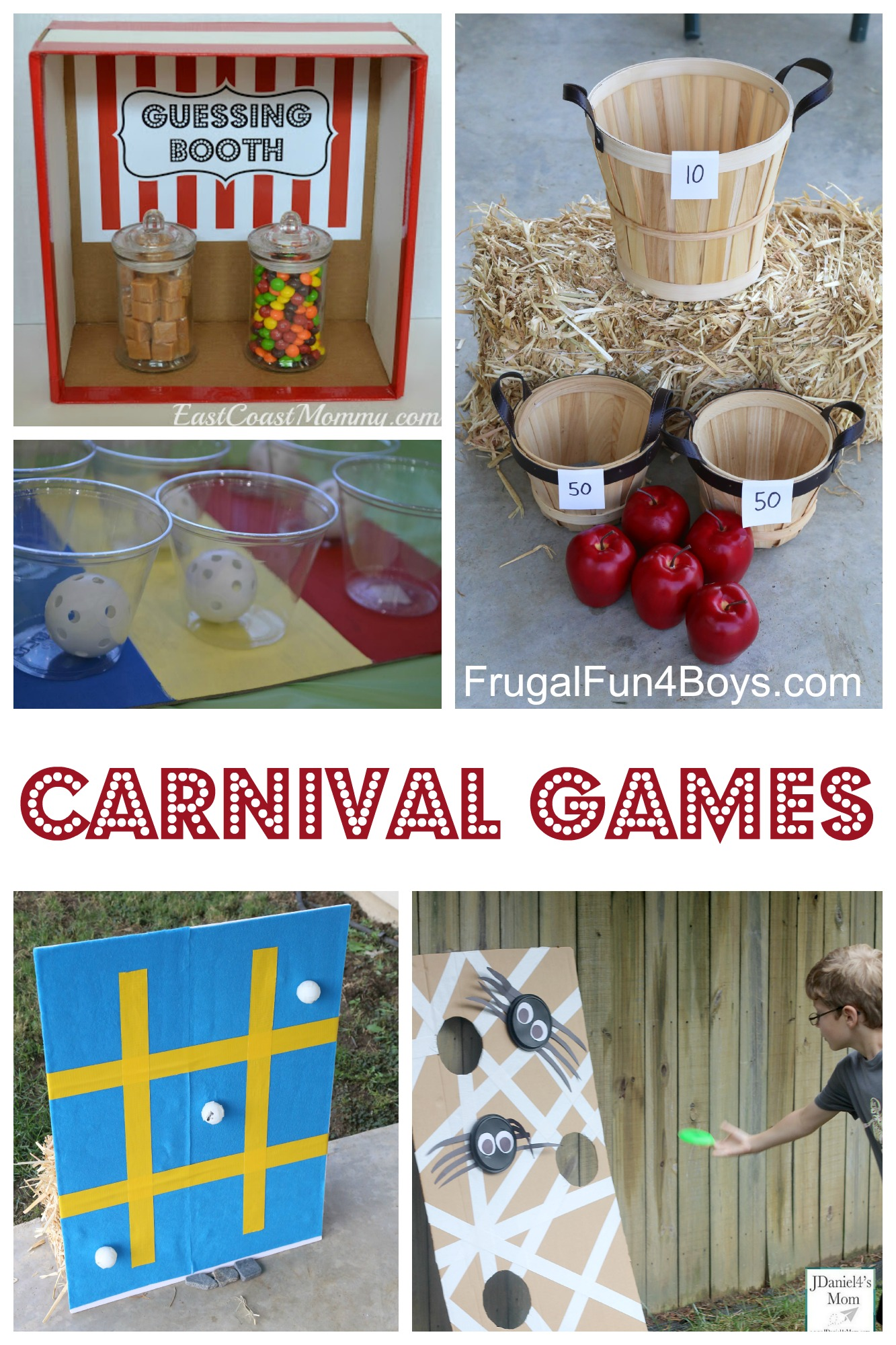 25+ Carnival Games for Kids! Fun for a family game night, church carnival, or school carnival