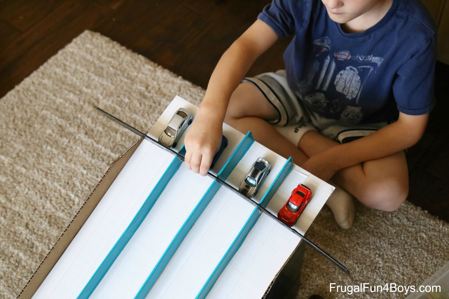 Cardboard Box Hot Wheels Race Track
