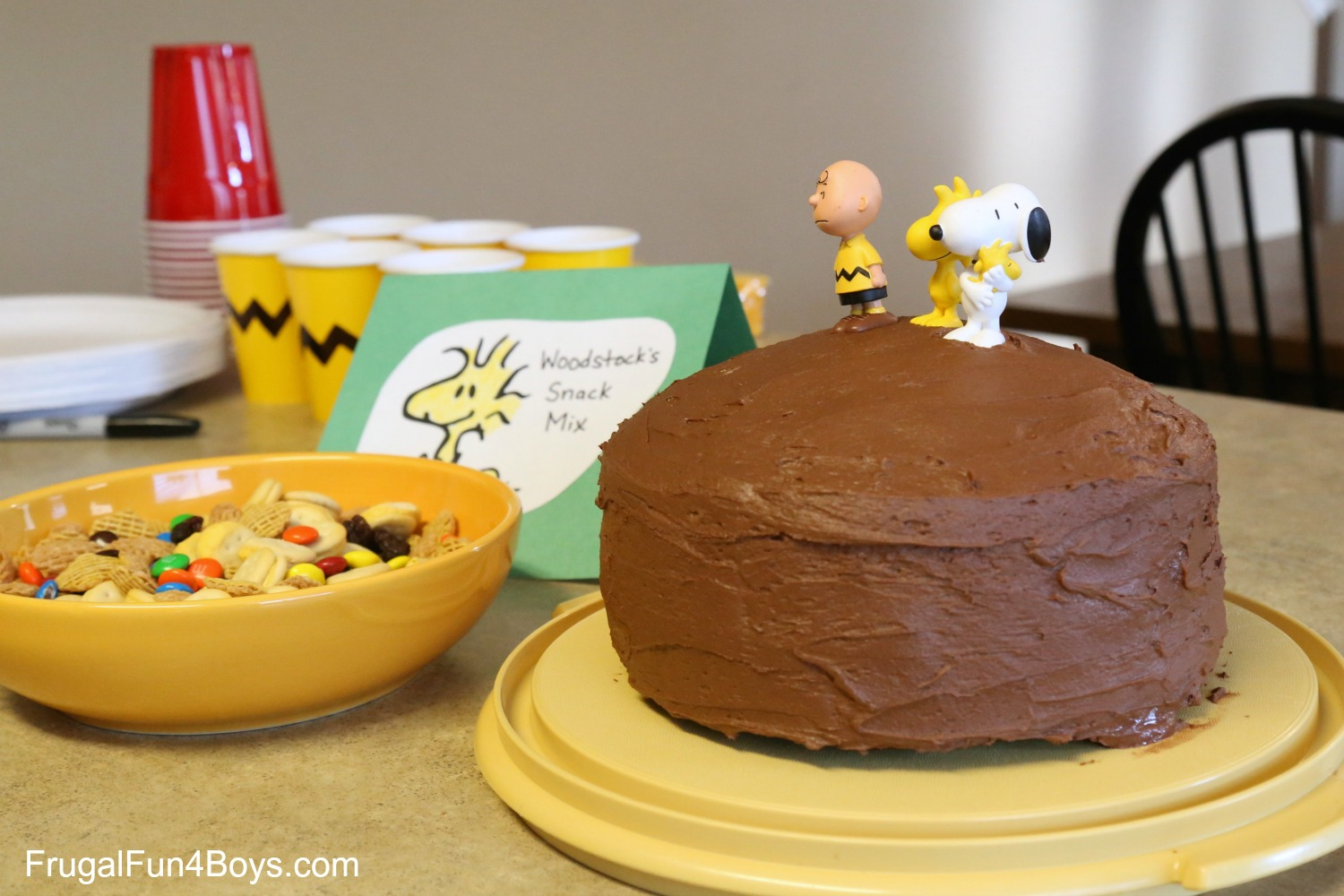 Fabulous Fun Food Ideas For A Peanuts Birthday Party Frugal Fun For Boys Personalised Birthday Cards Paralily Jamesorg