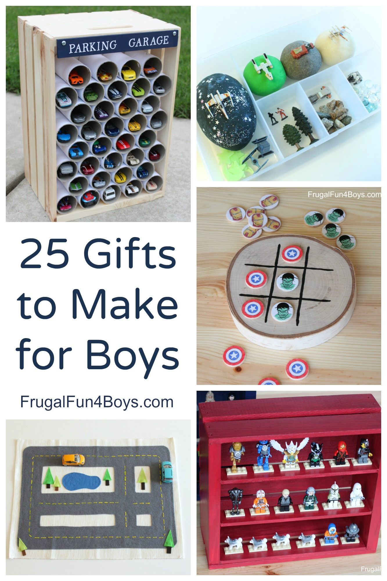 25 Gifts to Make for Boys - Homemade Toys that Boys will Go for!
