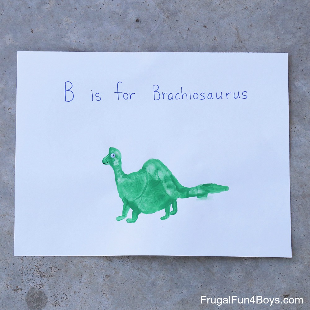 Handprint Dinosaurs to Make