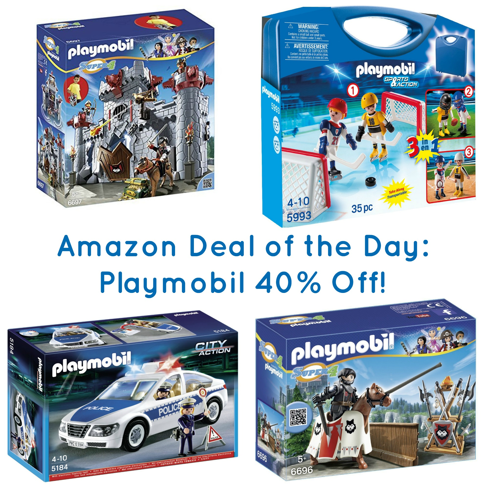 Amazon Deal of the Day: Select Playmobil Toys 40% Off!