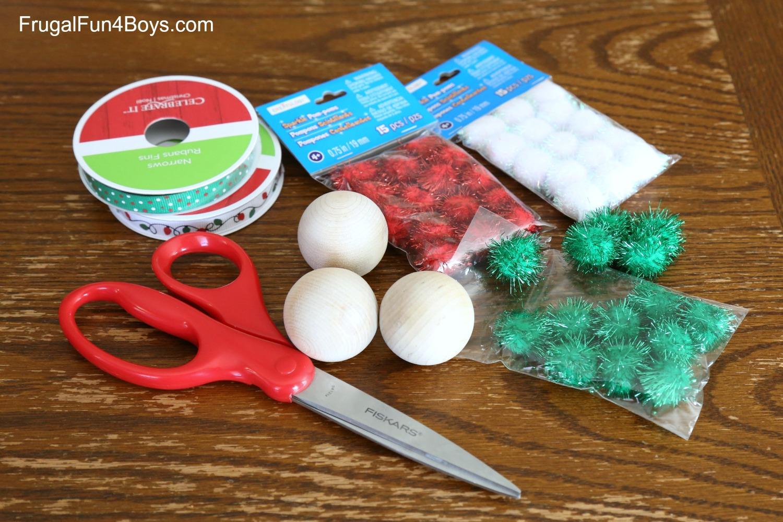 Sparkly Pom Pom Ball Ornaments for Kids to Make