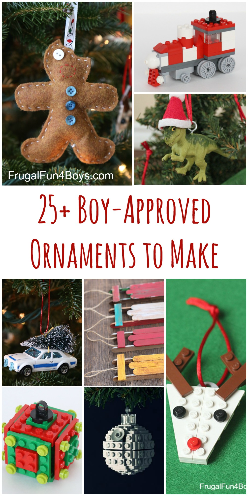 25+ Boy-Approved Ornaments to Make