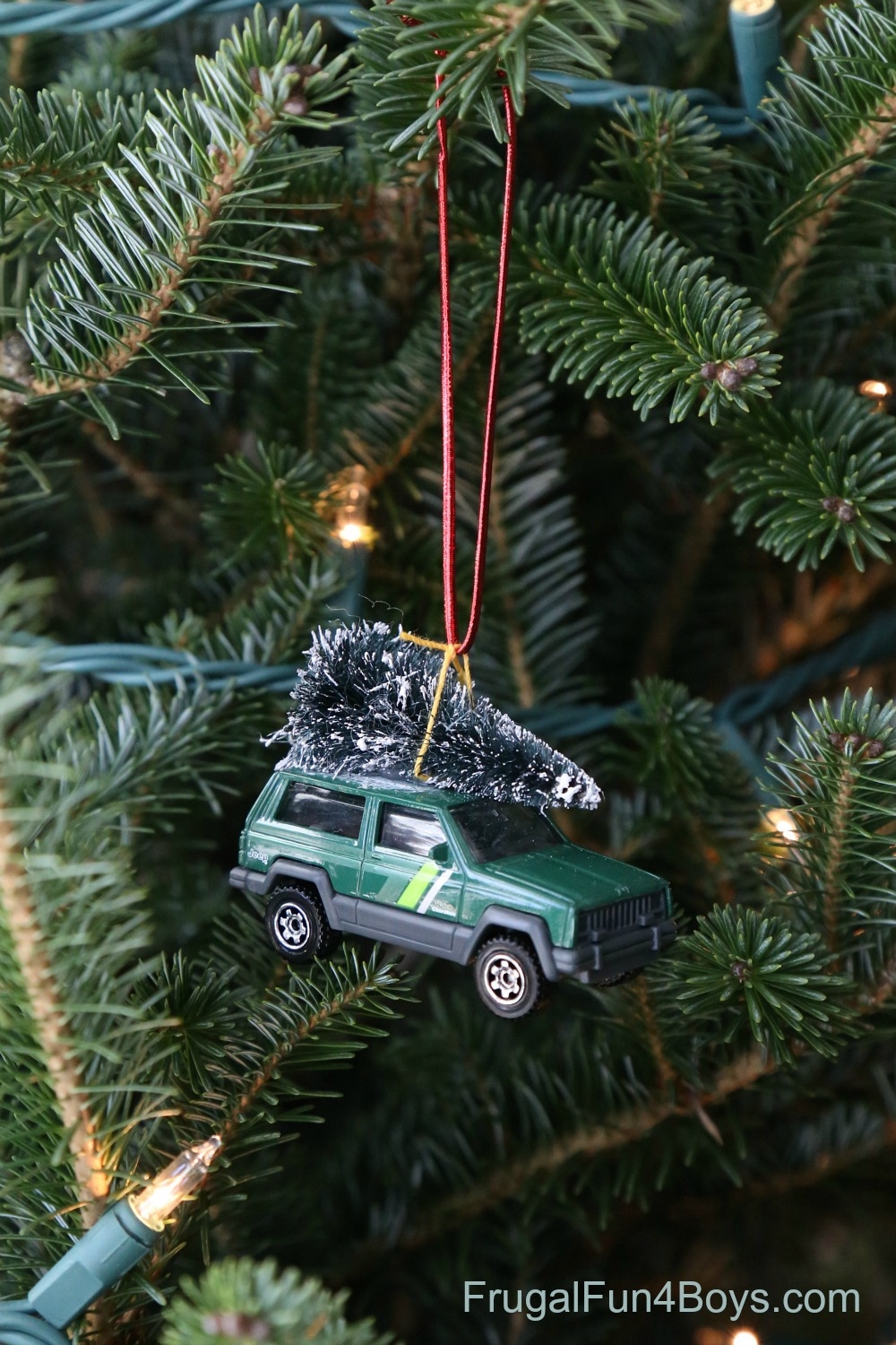 Christmas Tree Car Ornament for Kids to Make